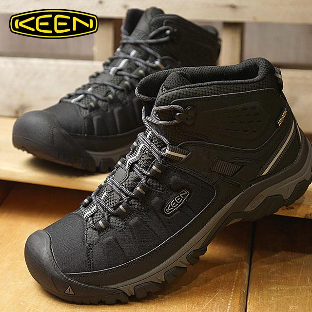 1868b76f571 KEEN Kean trekking shoes men MENS Targhee EXP Mid WP Targhee E X P mid  waterproof Black/Steel Grey shoes (1017715 FW17)
