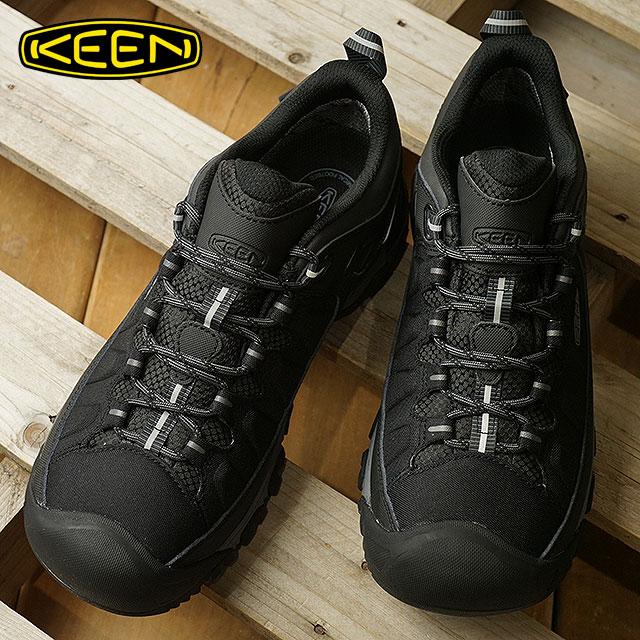 KEEN キーン トレッキングシューズ メンズ MENS Targhee EXP WP ターギー イーエックスピー ウォータープルーフ Black/Steel Grey 靴 (1017721 FW17)