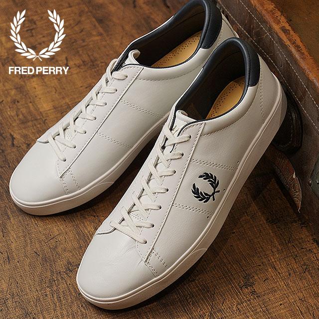 【即納】FRED PERRY フレッドペリー スニーカー 靴 メンズ・レディース SPENCER LEATHER スペンサー レザー PORCELAIN/NAVY (B7521U-254)【コンビニ受取対応商品】