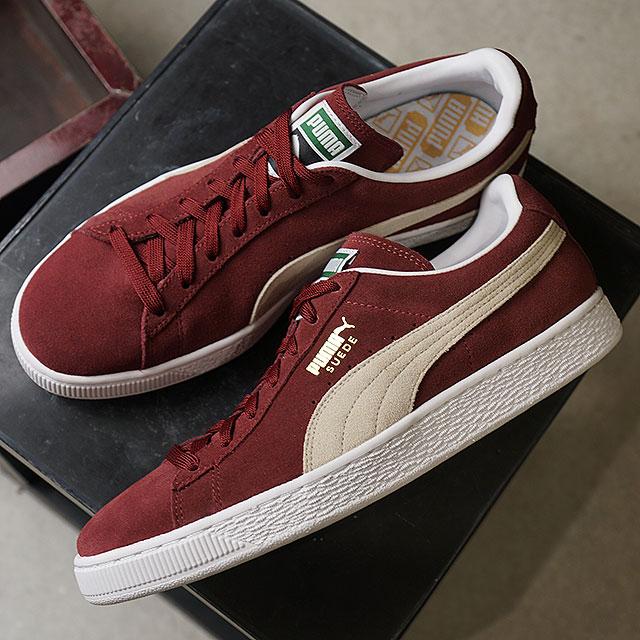finest selection 66cb6 bb660 PUMA Puma sneakers men SUEDE CLASSIC suede cloth classic + cabernet / white  (352,634-75 FW17)
