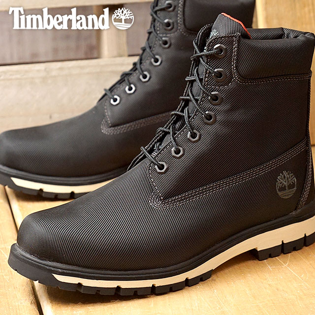 performance sportswear largest selection of 2019 authorized site Timberland Timberland men RADFORD Ccanvas Boot Radford canvas boots black  textile (A1MFI FW17)