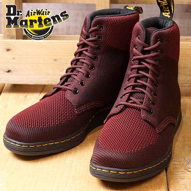 【在庫限り】Dr.Martens ドクターマーチン ブーツ メンズ・レディース RIGAL KNIT 8EYE BOOT 8ホール リガールニット ブーツ Oxblood/Black ニットテキスタイル 靴 (22800645 FW17)【ts】【コンビニ受取対応商品】