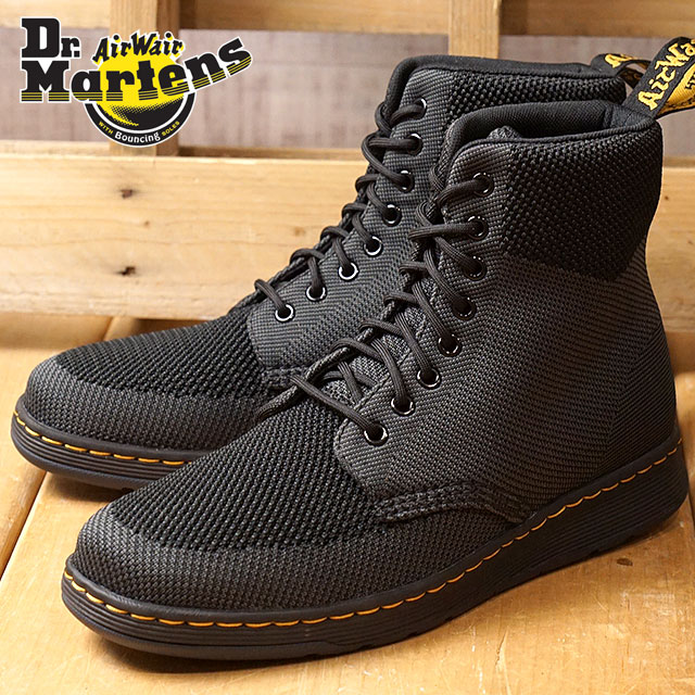 Dr.Martens doctor Martin boots men Lady's RIGAL KNIT 8EYE BOOT 8 hall re girl knit boots BlackAnt knit textile (22800924 FW17)