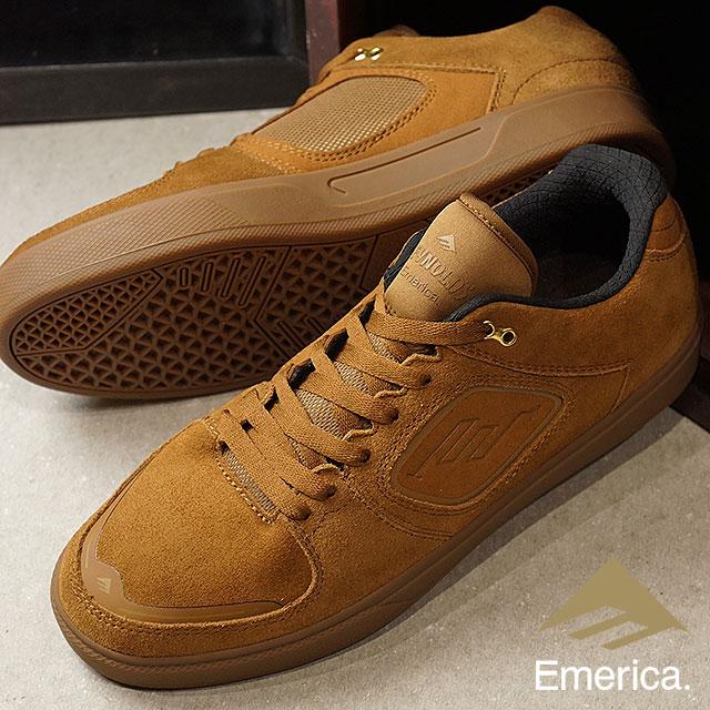 【在庫限り】EMERICA エメリカ スニーカー 靴 メンズ・レディース REYNOLDS G6 レイノルズ G6 BROWN/GUM スケートシューズ (FW17)【ts】【コンビニ受取対応商品】