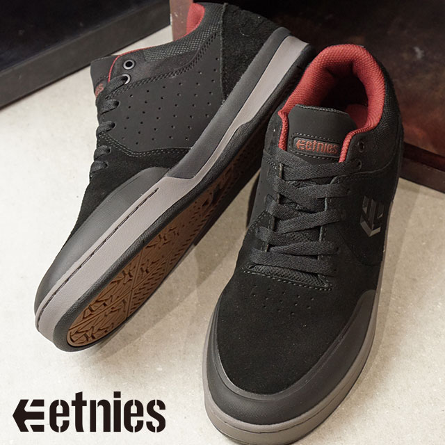 dobrze out x wysoka moda klasyczny ETNIES エトニーズスニーカーメンズ Lady's MARANA XT マラナ XT BLACK/GREY/RED skating shoes  (FW17)