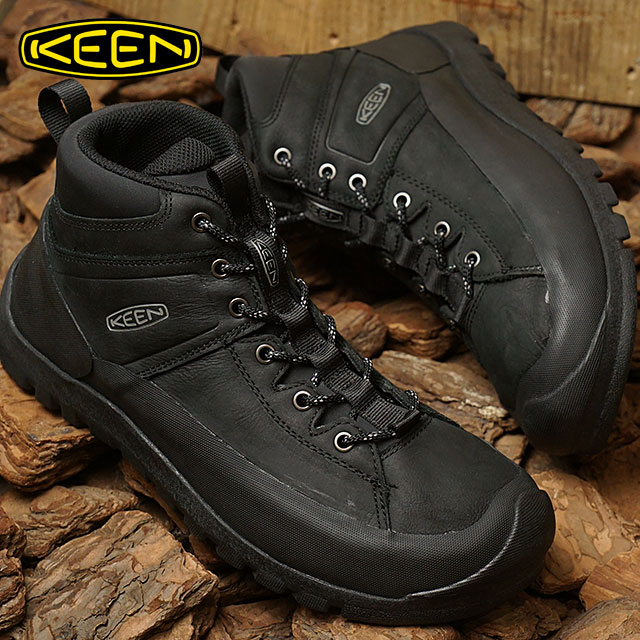 KEEN キーン トレッキングシューズ メンズ MENS Citizen KEEN LTD WP シティズン キーン リミテッド ウォータープルーフ Black 靴 (1015140 FW17)【コンビニ受取対応商品】