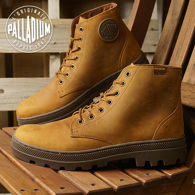 PALLADIUM パラディウム スニーカー 靴 メンズ PALLABOSSE MID パラボス ミッド SUNRISE/D.GUM (05525-740 FW17)【コンビニ受取対応商品】