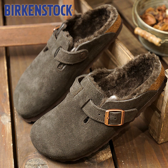 d1c73965cdd5 BIRKENSTOCK ビルケンシュトックサンダルレディース BOSTON SUEDE LEATHER SHEEPSKIN Boston suede  leather   sheepskin MOCHA (GC1006409 FW17)