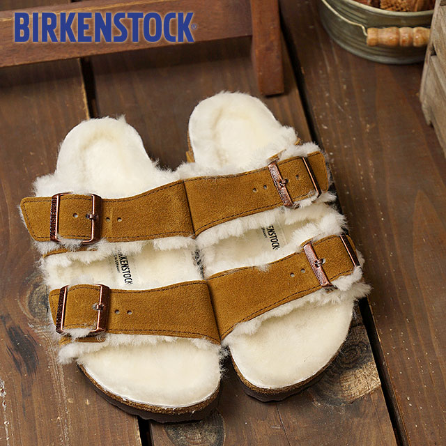 69a8465aa930 BIRKENSTOCK ビルケンシュトックサンダル shoes Lady s ARIZONA SUEDE LEATHER SHEEPSKIN Arizona  suede leather   sheepskin MINK (GC1001135 FW17)