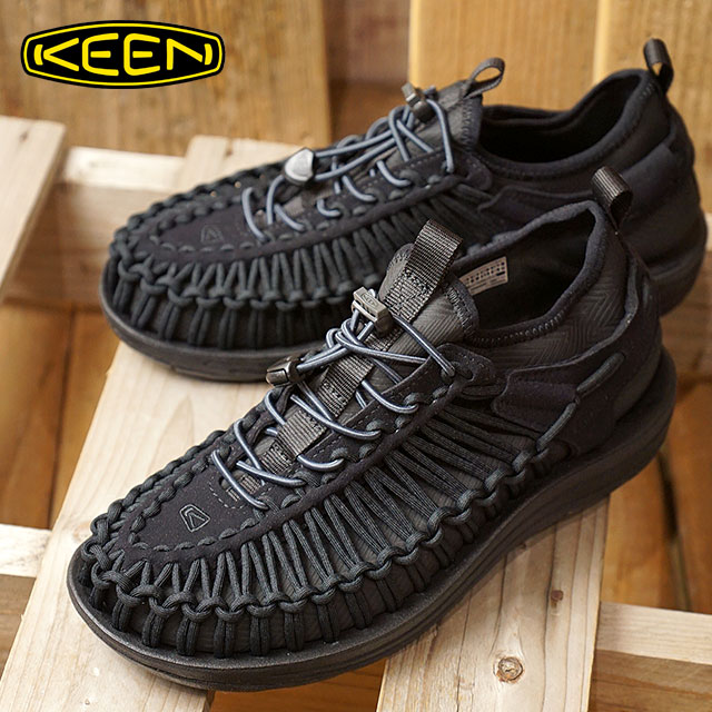 【即納】KEEN キーン スニーカー 靴 サンダル 靴 レディース WMNS UNEEK HT ユニーク エイチティー Black/Black (1018028 FW17)【コンビニ受取対応商品】