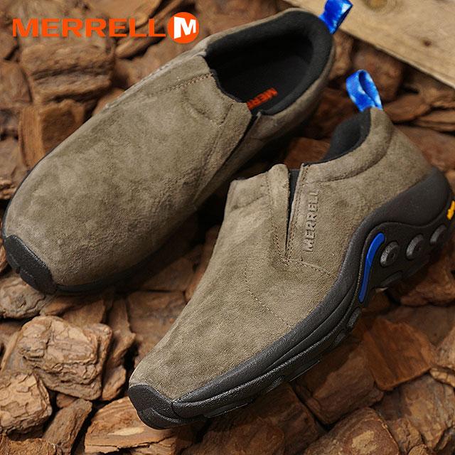 NEW Mens Merrell Jungle Moc Ice Waterproof Slip On Gunsmoke Brown Hiking Shoes