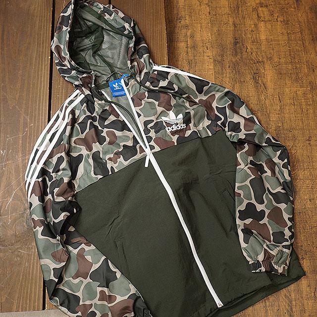 adidas Originals Mens Camo Reversible Windbreaker Jacket