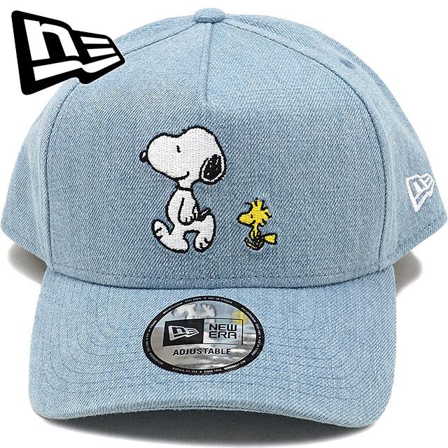 NEWERA new gills cap New Era 9FORTY A-Frame PEANUTS WALK Snoopy peanut walk  snapback baseball cap hat W denim  S white (11497875 FW17) cd9cfc1330d
