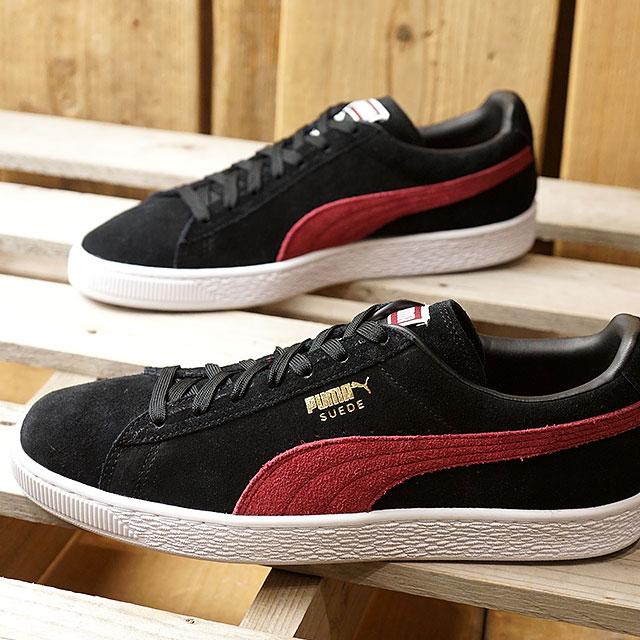 PUMA Puma suede sneakers men SUEDE CLASSIC + suede cloth classic positive black C red (363,242 31 HO17)