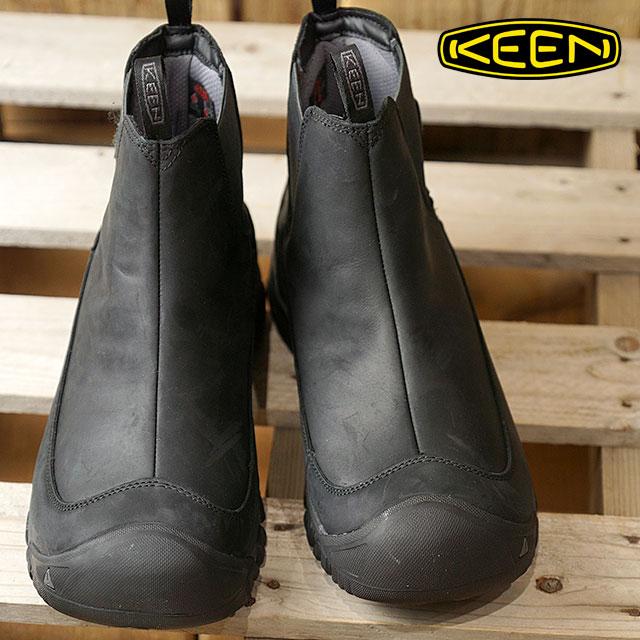 KEEN キーン サイドゴアブーツ メンズ MENS Anchorage Boot III WP アンカレッジ ブーツ スリー ウォータープルーフ Black/Raven 靴 (1017789 FW17)【コンビニ受取対応商品】