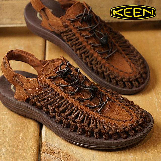 【在庫限り】KEEN キーン サンダル 靴 メンズ MENS UNEEK LEATHER ユニーク レザー Tortoise Shell/Mulch SC (1017877 FW17)【ts】