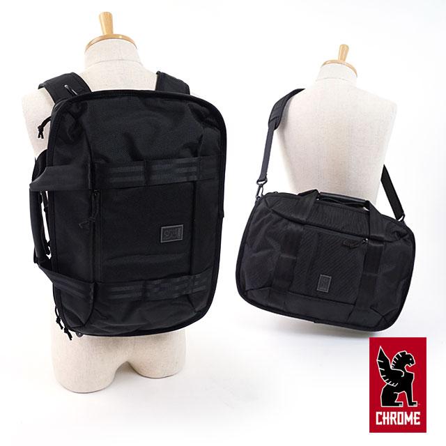 【即納】CHROME クローム 3WAYビジネスバッグ 15L ブリーフケース バックパック キャリーバッグ VEGA ベガ ALL BLACK (BG-229 FW17)【コンビニ受取対応商品】