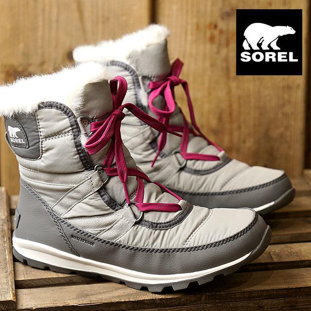c6225a7ac3 SOREL Sorrel snow boot Lady's WHITNEY SHORT LACE wit knee short race QUARRY  (NL2776- ...