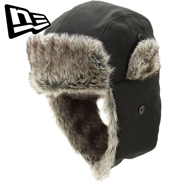 Hat black  S white (11474264 FW17) with the NEWERA new gills cap New Era  The Trapper Wool Twill wool twill the trapper cold protection cap fur 0a73941c3e0