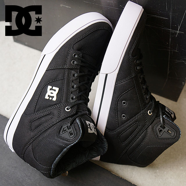 44750c80f30f DC SHOES D sea shoes men Lady s SPARTAN HIGH WC TX SE spartan high  BLACK WHITE SILVER (ADYS400004 DM176012 HO17)