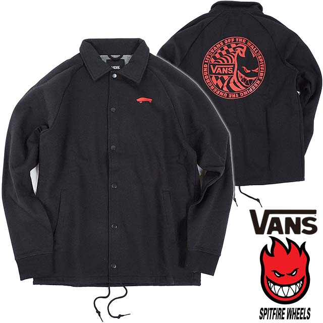 2c189cdf1625bb VANS X SPITFIRE vans pit fire collaboration men Tolley fleece coach jacket  TORREY FLEECE CHOACH JACKET black (VN0A36KYP7X HO17)