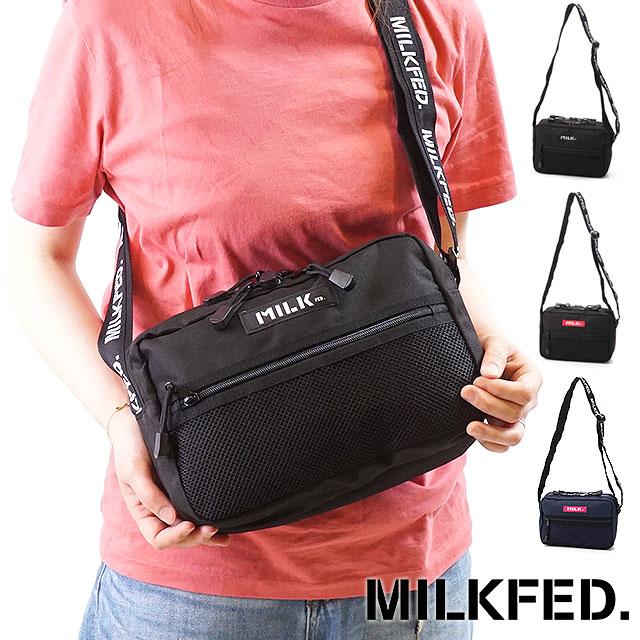 43ee157b MILKFED. ミルクフェド LOGO TAPE SHOULDER BAG logo tape shoulder bag (3173053 FW17)