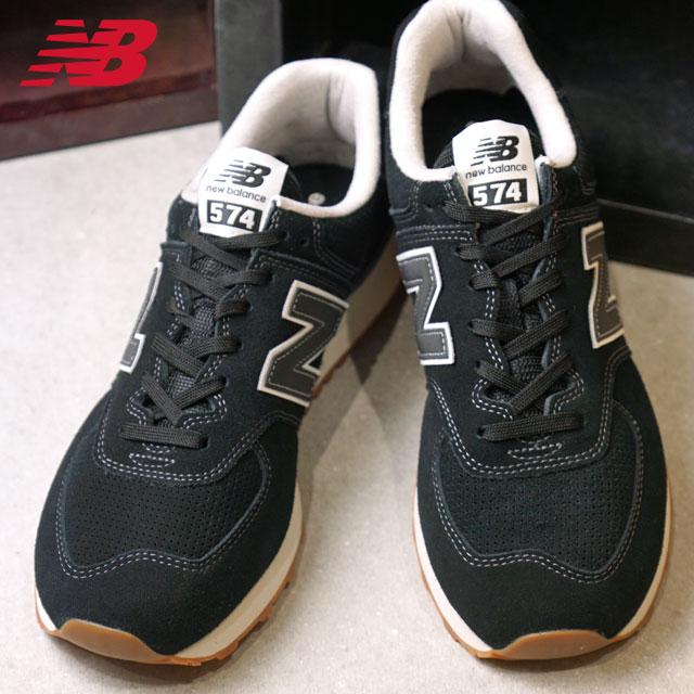 【即納】newbalance ニューバランス メンズ・レディース Dワイズ ML574 BLACK スニーカー 靴 (ML574ESE FW18)【コンビニ受取対応商品】