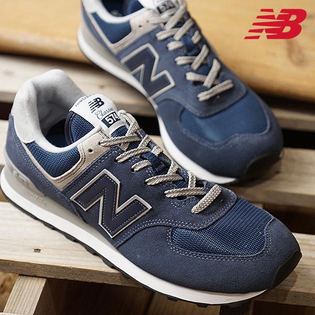 【月間優良ショップ】newbalance ニューバランス メンズ・レディース Dワイズ ML574 NAVY スニーカー 靴 (ML574EGN)