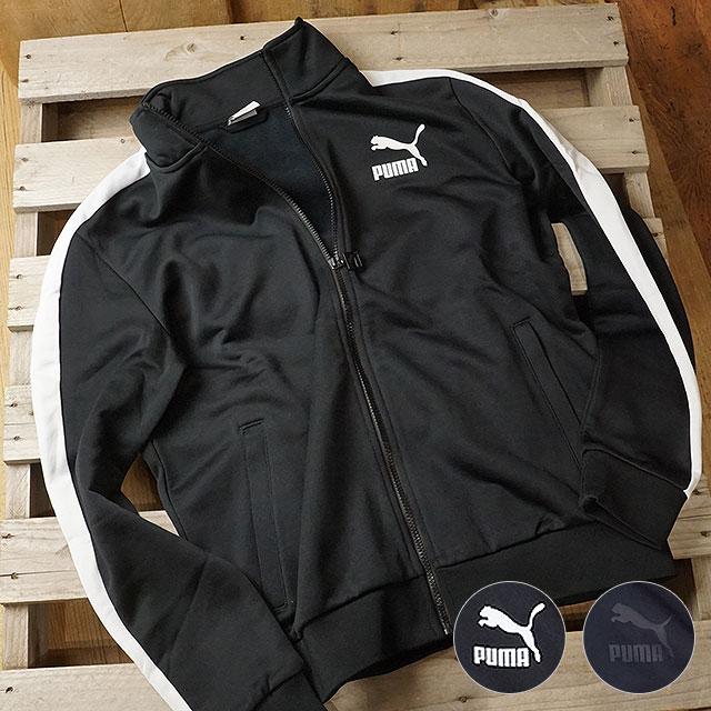 8e8ea8859324 PUMA Puma men jersey CLASSICS T7 TRACK JACKET classical music T7 truck  jacket (577594 FW18)