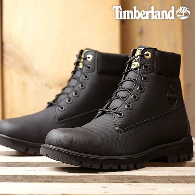 【即納】Timberland ティンバーランド メンズ Rubberized 6inch Waterproof Bootラバーライズド 6インチ ブーツ Jet Black Rubberized 靴 (A1R7B FW18)【コンビニ受取対応商品】
