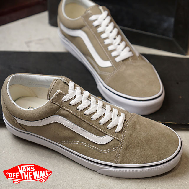 222e2167f1 VANS station wagons OLD SKOOL old school vans sneakers shoes DESERT TAUPE TRUE  WHITE (VN0A38G1U63 FW18)