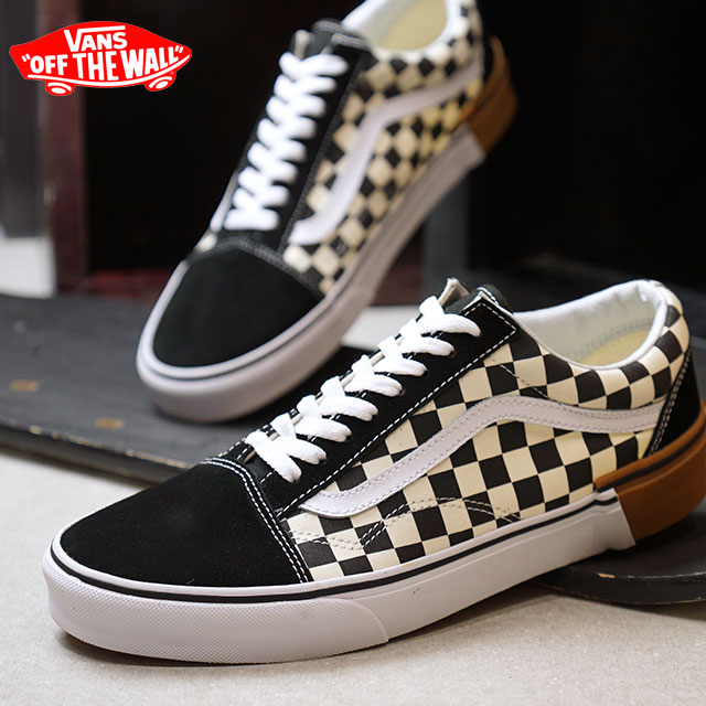 8a3aa0f172e464 VANS station wagons GUM BLOCK gum block OLD SKOOL old school vans sneakers  shoes CHECKERBOARD (VN0A38G1U58 FW18)