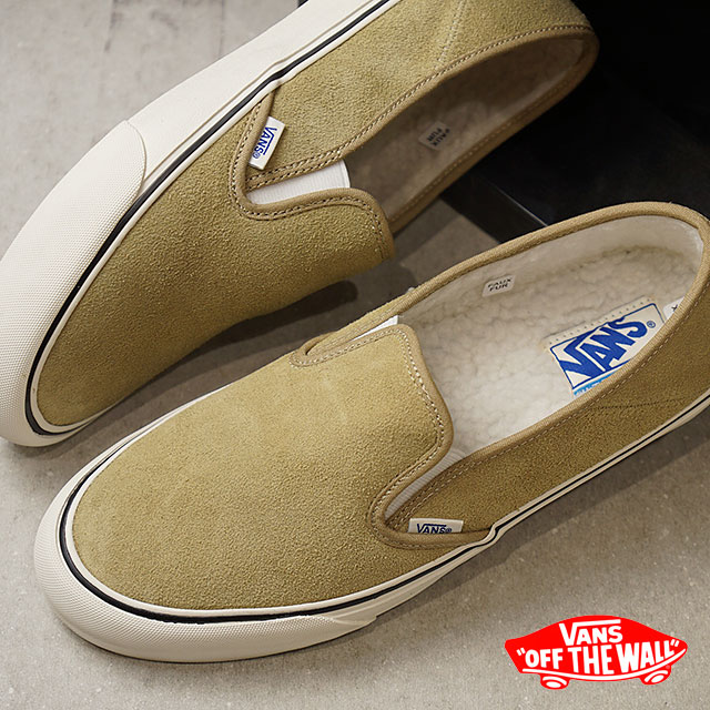VANS station wagons boa ARA inning SLIP-ON SF slip-on surf slip-ons vans  sneakers shoes FLEECE CORNSTALK MARSHMALLOW (VN0A3MVDUD3 FW18) a9eeefec7