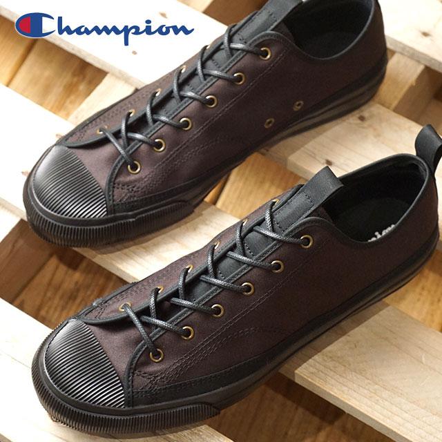 【即納】Champion Footwear チャンピオン フットウェア 日本製 スニーカー 靴 ROCHESTER LO BS ロチェスター ローカット BS メンズ ブラック (C2-L701 FW18)【コンビニ受取対応商品】