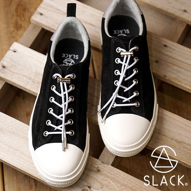 【月間優良ショップ】スラック SLACK クルード プレミアム スエードレザー CLUDE PREMIUM SUEDE スニーカー 靴 メンズ・レディース BLACK/WHITE (SL1401-001 FW18)【コンビニ受取対応商品】