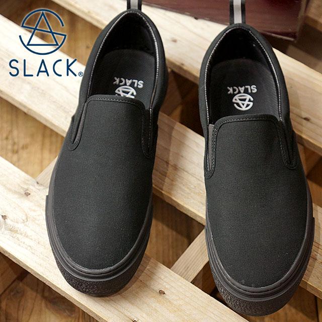 スラック SLACK カーマー ES スリップオン CALMER ES SLIP-ON スニーカー 靴 スリッポン メンズ・レディース BLACK/BLACK (SL1492-003 FW18)【ts】