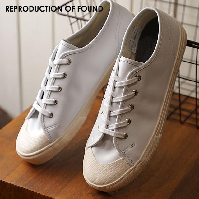 【即納】リプロダクション オブ ファウンド REPRODUCTION OF FOUND イタリアン ミリタリー トレーナー ITALIAN NAVY MILITARY TRAINER メンズ スニーカー 靴 WHITE (3500L FW18)【コンビニ受取対応商品】