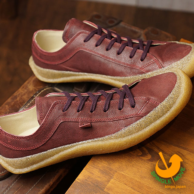 5f897995a48 スピングルムーブ SPINGLE MOVE SPM-203 crepe sole leather sneakers men gap Dis shoes  shoes Wine (SPM203-47 FW18)