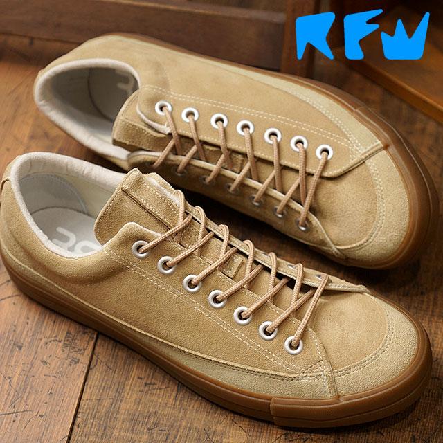 【即納】アールエフダブリュー RFW ベーグル ロー スエード BAGEL-LO SUEDE リズムフットウェア メンズ スニーカー 靴 Beige (R-1832253 FW18)【コンビニ受取対応商品】