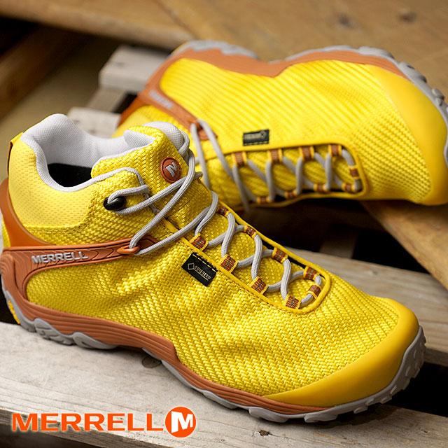 メレル MERRELL メンズ カメレオン7 ストーム ミッド ゴアテックス M CHAMELEON7 STORM MID GORE-TEX 完全防水 アウトドア トレッキングシューズ 靴 DANDELION (38563 FW18)【ts】【e】