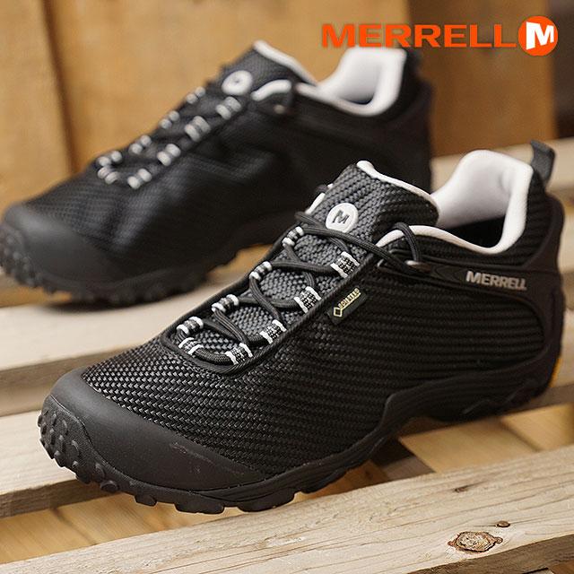 【即納】メレル MERRELL メンズ カメレオン7 ストーム ゴアテックス M CHAMELEON7 STORM GORE-TEX 完全防水 アウトドア トレッキングシューズ 靴 BLACK/BLACK (36475 FW18)【コンビニ受取対応商品】