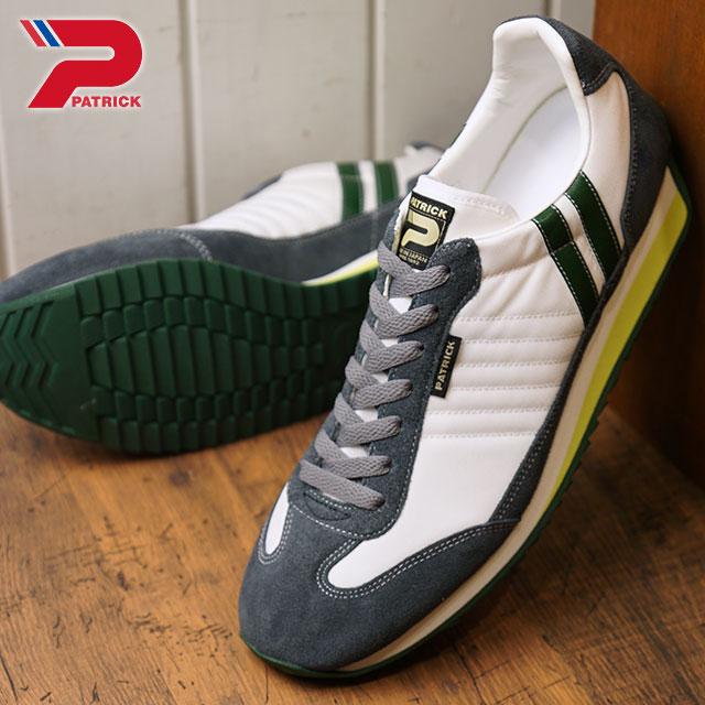 【即納】【返品送料無料】パトリック PATRICK マラソン MARATHON メンズ レディース スニーカー 靴 ホワイト W.TGR (94050 FW18)【コンビニ受取対応商品】
