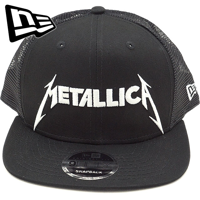 b830a105eac New gills cap NEWERA Metallica logo mesh cap 9FIFTY METALLICA LOGO CAP  trucker men gap Dis hat black (11797094 FW18)