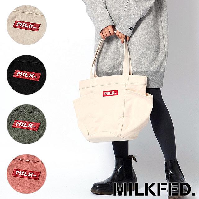 Shoetime ミルクフェド Milkfed Multi Pocket Canvas Tote Bag Multi