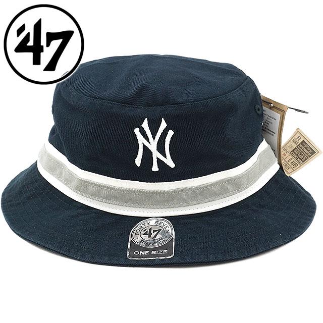 b2014f4ec32 SHOETIME  Forty seven Yankees  47 pail hat Yankees  47 Bucket hat men gap  Dis Fall Navy (SDBKB17GWF FW18)