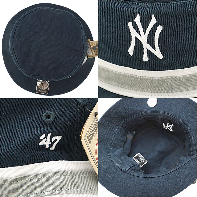 a2b3b5d0806 Forty seven Yankees  47 pail hat Yankees  47 Bucket hat men gap Dis Fall  Navy (SDBKB17GWF FW18)