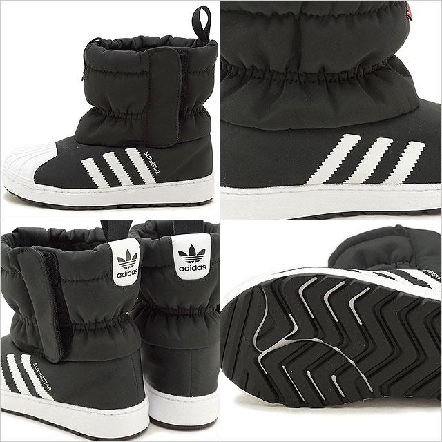 adidas Originals Adidas originals kids SST WINT3R CF I superstar winter boots in fan toss knee car shoes C black R white R white (B22502 FW18)