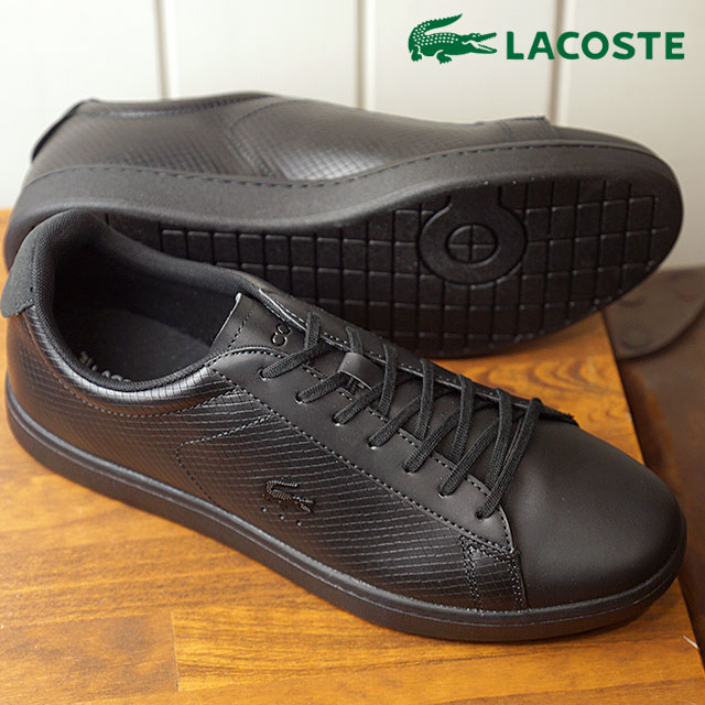 b248e10f5eac LACOSTE Lacoste CARNABY EVO 318 7 カーナビーエヴォスニーカー shoes men black (SM0012L  FW18)