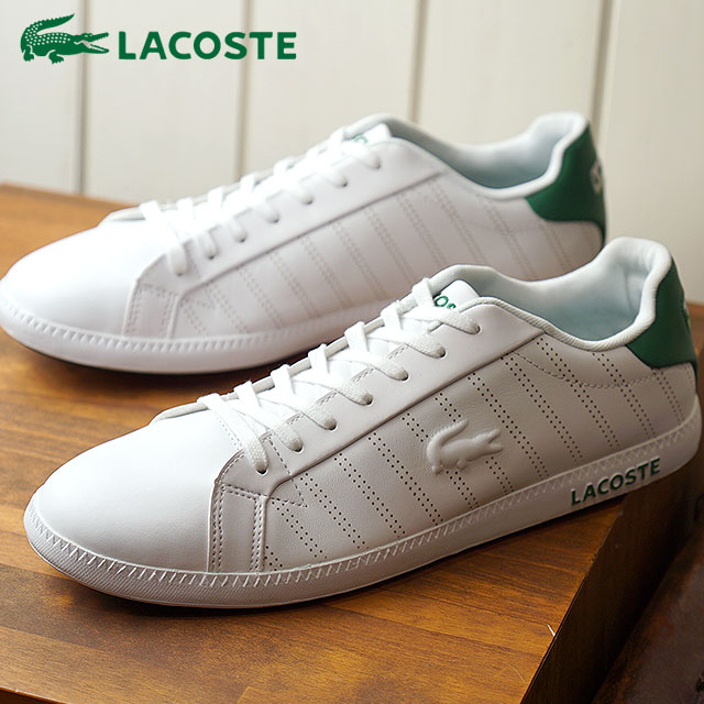 f2dfb041055a LACOSTE Lacoste GRADUATE 318 1 グラデュエイトスニーカー shoes men white   green  (SPM0021 FW18)