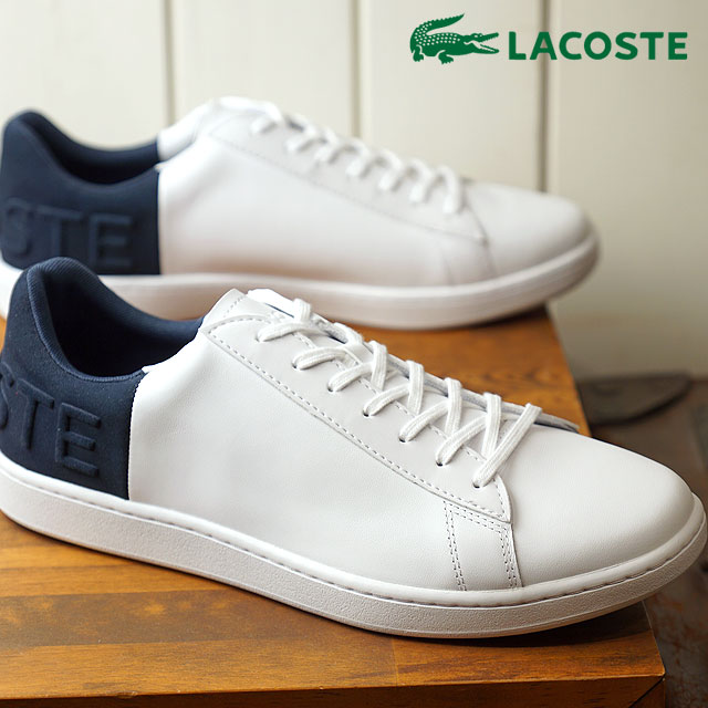 77b24479e19f74 LACOSTE Lacoste CARNABY EVO 318 6 カーナビーエヴォスニーカー shoes men white   navy  (SPM0011 FW18)
